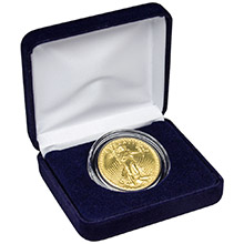Gold $20 St. Gaudens Double Eagle Coin (Jewelry Grade) in Velvet Gift Box