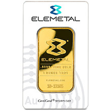 1 oz Gold Bar Elemetal .9999+ Fine 24kt (in Assay)
