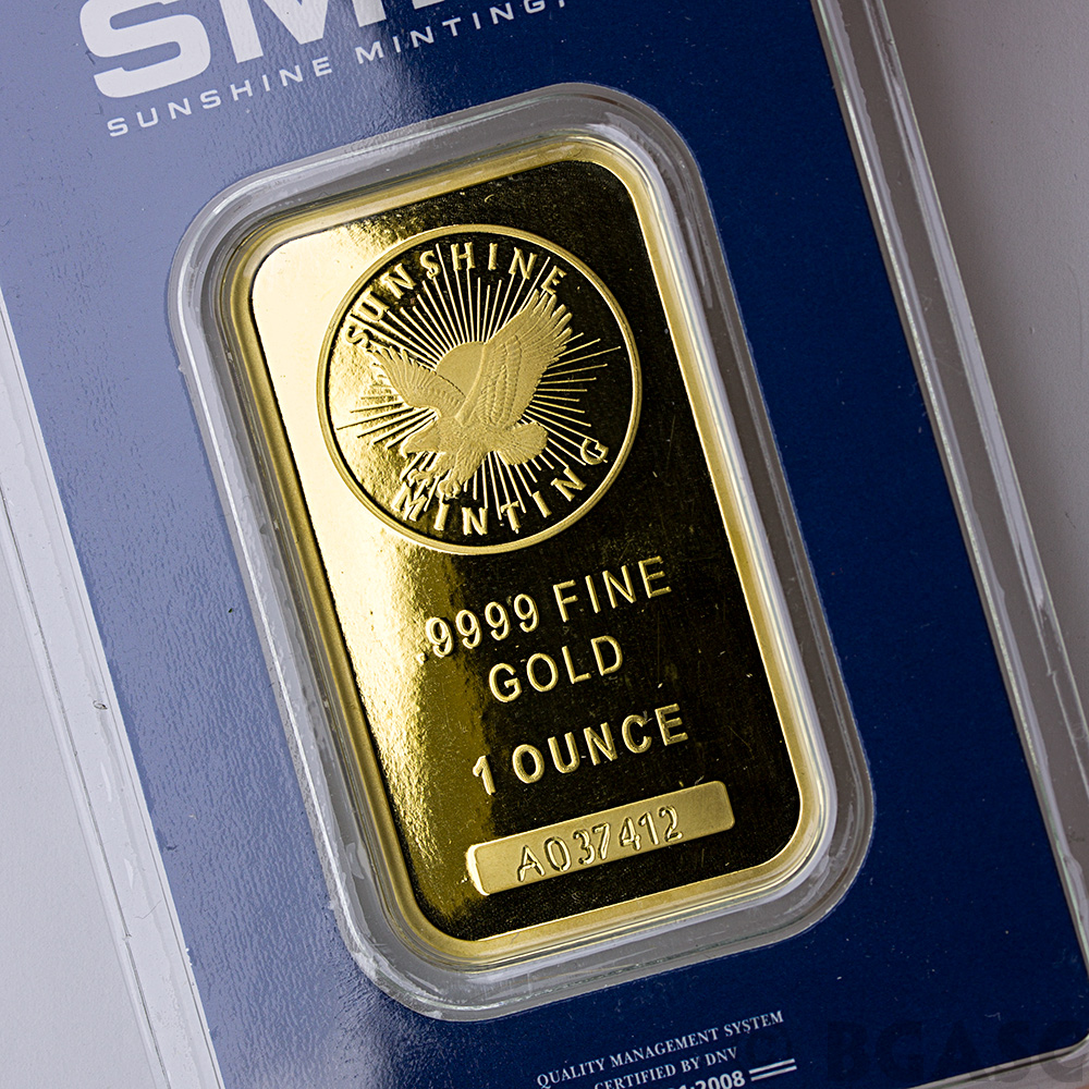 Buy 1 Oz Gold Bar Sunshine Minting 9999 Fine 24kt In