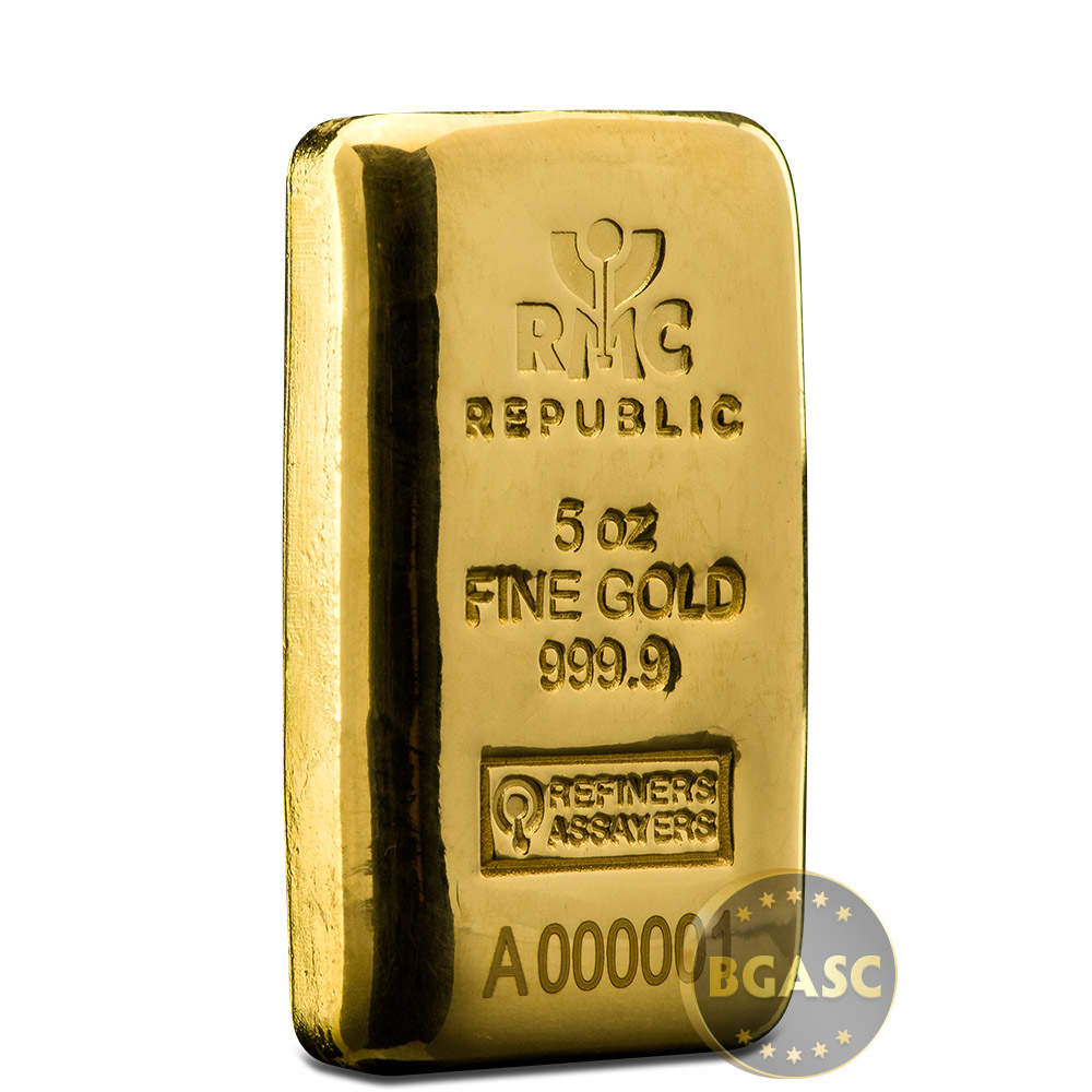 Buy 5 Oz Gold Bar Republic Metals Rmc Cast 9999 Fine