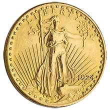 $20 Saint Gaudens Double Eagle Gold Coin Jewelry Grade (Random Year)