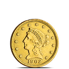 $2.50 Liberty Quarter Eagle Gold Coin Jewelry Grade (Random Year)
