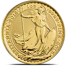 2018 1 oz Gold Britannia Bullion Coin Brilliant Uncirculated .9999 Fine 24kt