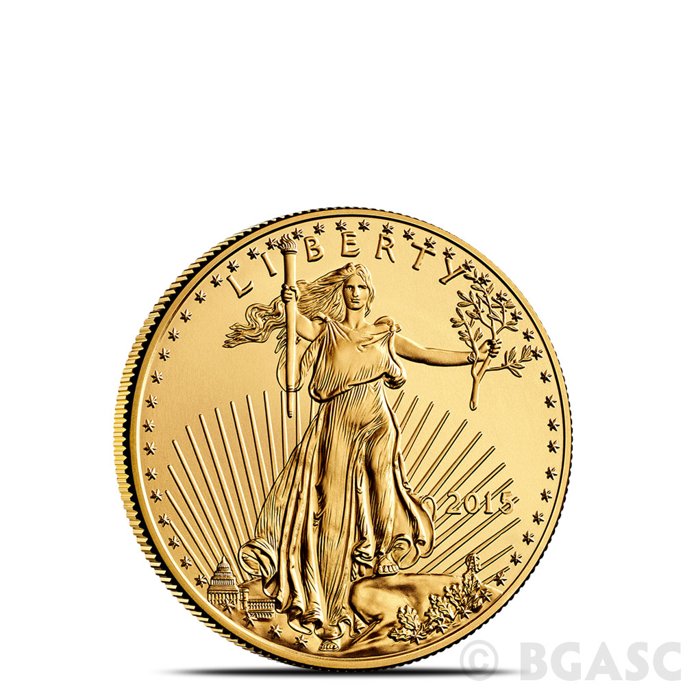 Buy 2015 1 10 Oz Gold American Eagle 5 Coin Brilliant