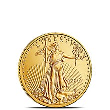 2016 1/10 oz Gold American Eagle $5 Coin Bullion Brilliant Uncirculated
