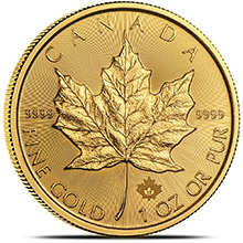 2017 1 oz Gold Canadian Maple Leaf Bullion Coin Brilliant Uncirculated .9999 Fine 24kt Gold