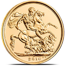 2016 Great Britain Gold Sovereign Coin BU
