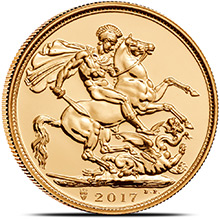2017 Great Britain Gold Sovereign Coin BU (200th Anniversary Privy)
