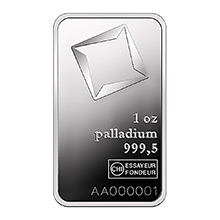 1 oz Valcambi Palladium Bullion Bar .9995 Fine Mint Sealed with Assay