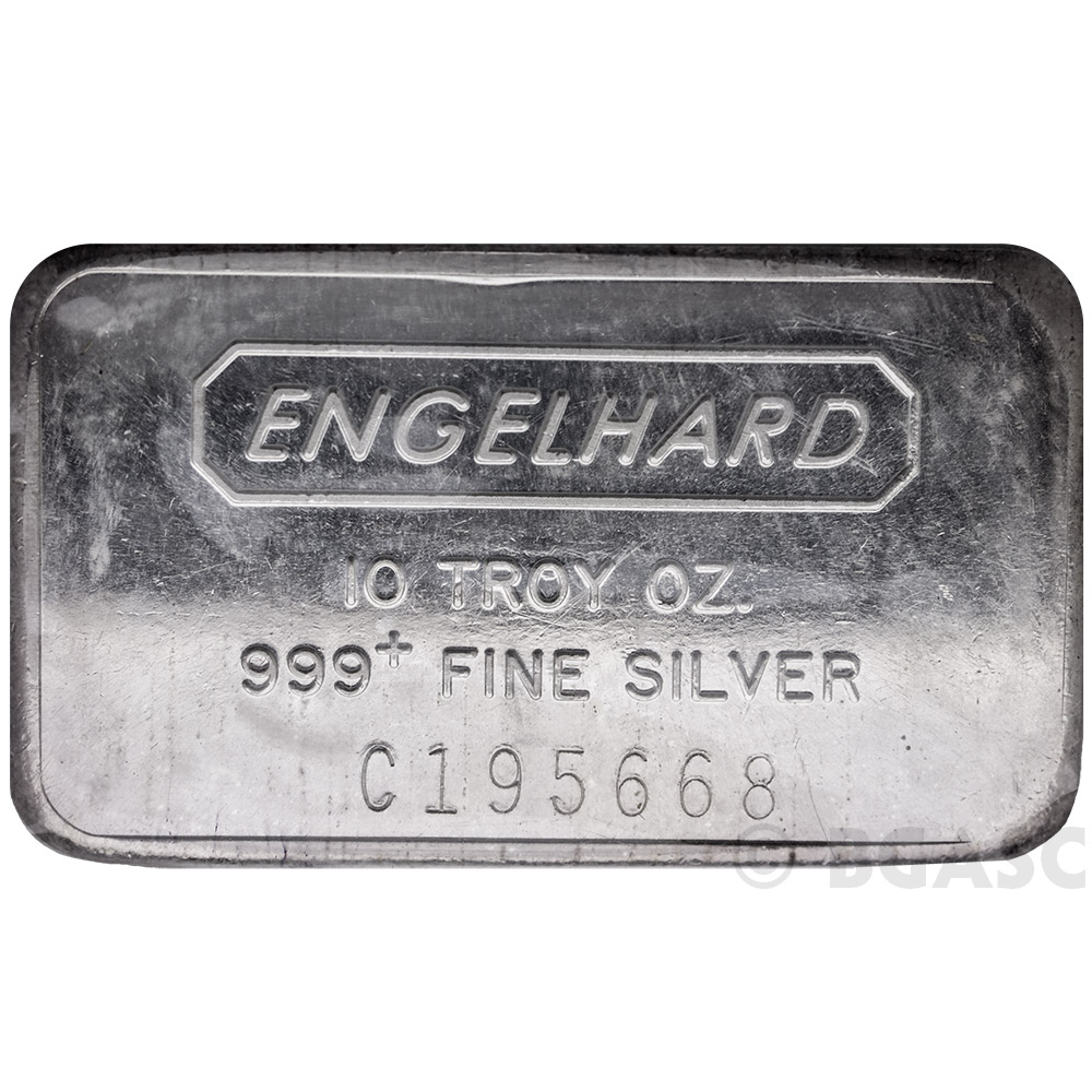 Buy 10 Oz Engelhard Silver Bars 999 Fine Wide Struck