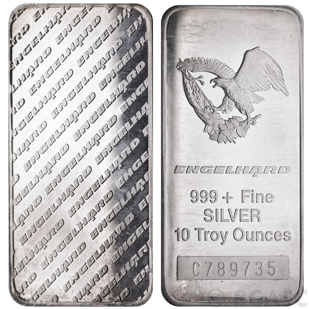 Buy 10 Oz Engelhard Silver Bars 999 Fine Tall Eagle
