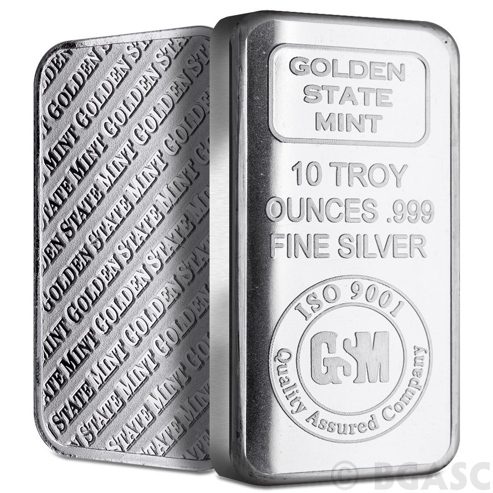 Where to buy silver - 10 Oz Gsm Silver Bars Golden State Mint Image