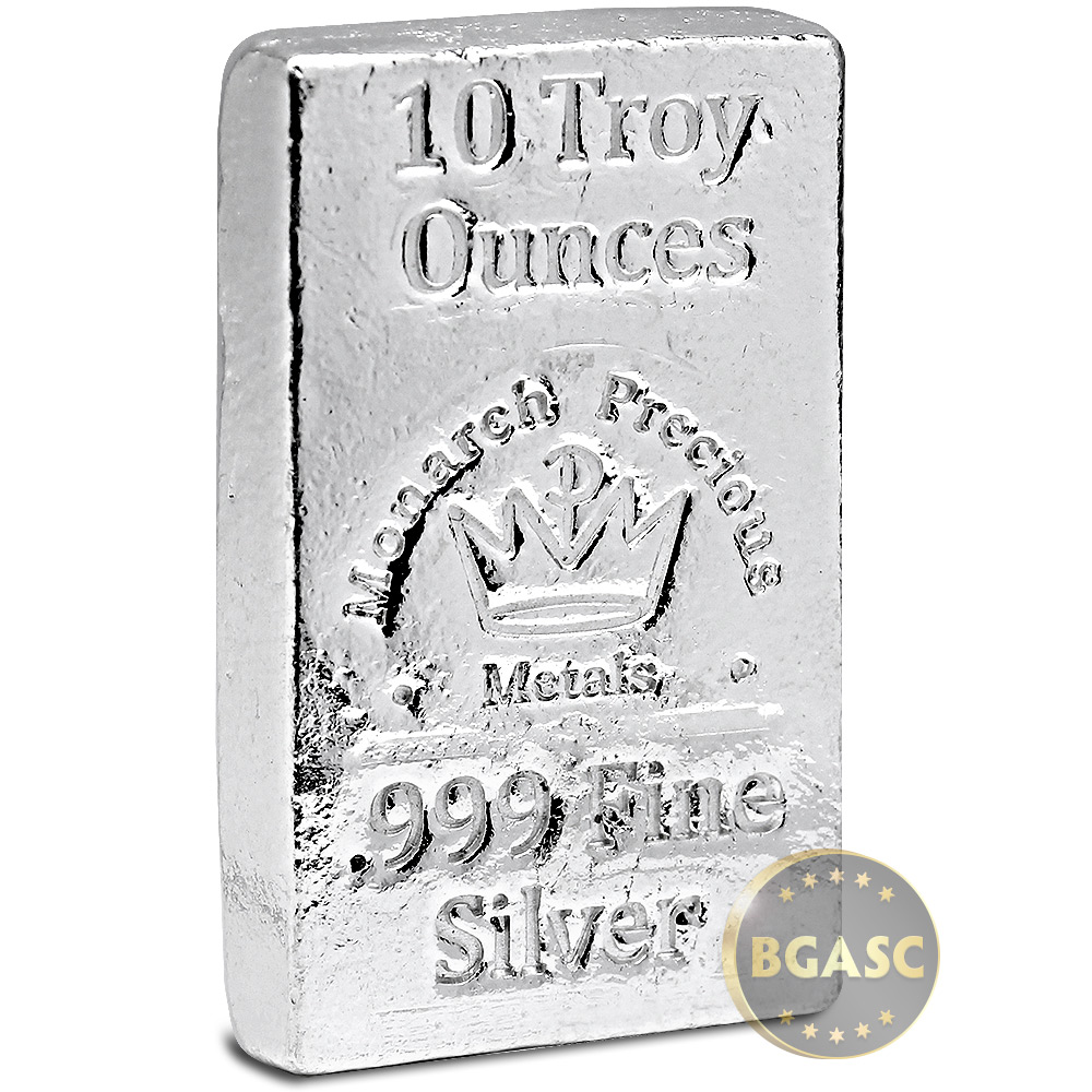 Buy 10 Oz Silver Bars Monarch Hand Poured 999 Fine