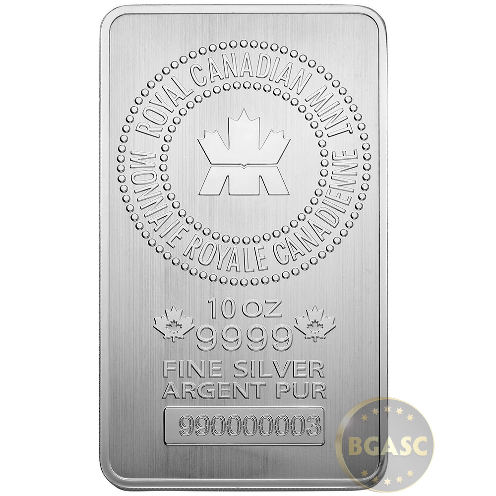 Buy 10 Oz Silver Bars Royal Canadian Mint Rcm 9999 Fine