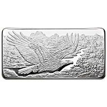 10 oz Silver Bars Republic Metals RMC Eagle .999 Fine Bullion Ingot