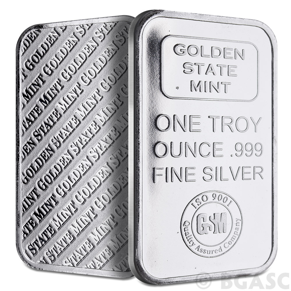 Where to buy silver - 1 Oz Gsm Silver Bars Golden State Mint 999 Fine Silver Bullion Image