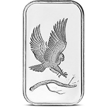 1 oz Silver Bar SilverTowne Eagle .999 Fine Bullion Ingot