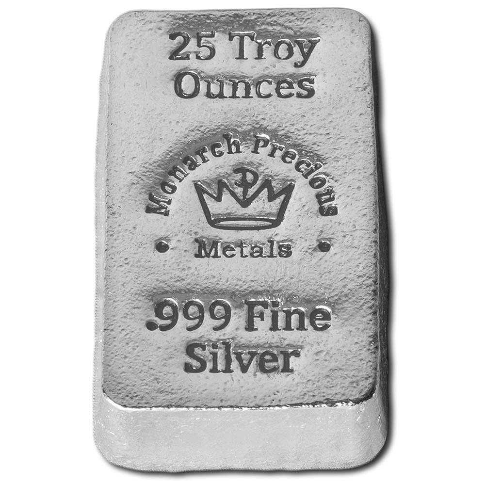 Buy 25 Oz Silver Bars Monarch Hand Poured 999 Fine