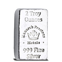 2 oz Silver Bars Monarch Hand Poured .999 Fine Lil' Chunky Bullion Loaf Ingot