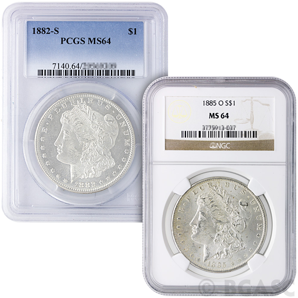 Where to buy silver - Ms64 Graded Morgan Silver Dollars 1878 1904 Silver Coins Image