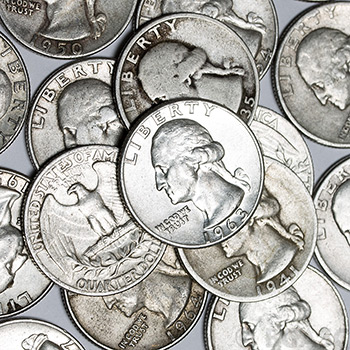 90 Percent Silver Coins $500 Face Value Bag in Quarters - Image