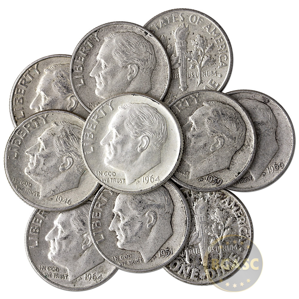 Where to buy silver - 90 Percent Silver Dimes 1 Face Value In Silver Coins Image
