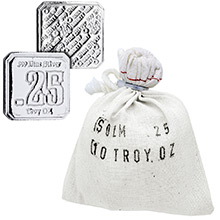 10 oz Bag of 1/4 oz Silver Suns of Liberty .999 Fine (Bag of 40)