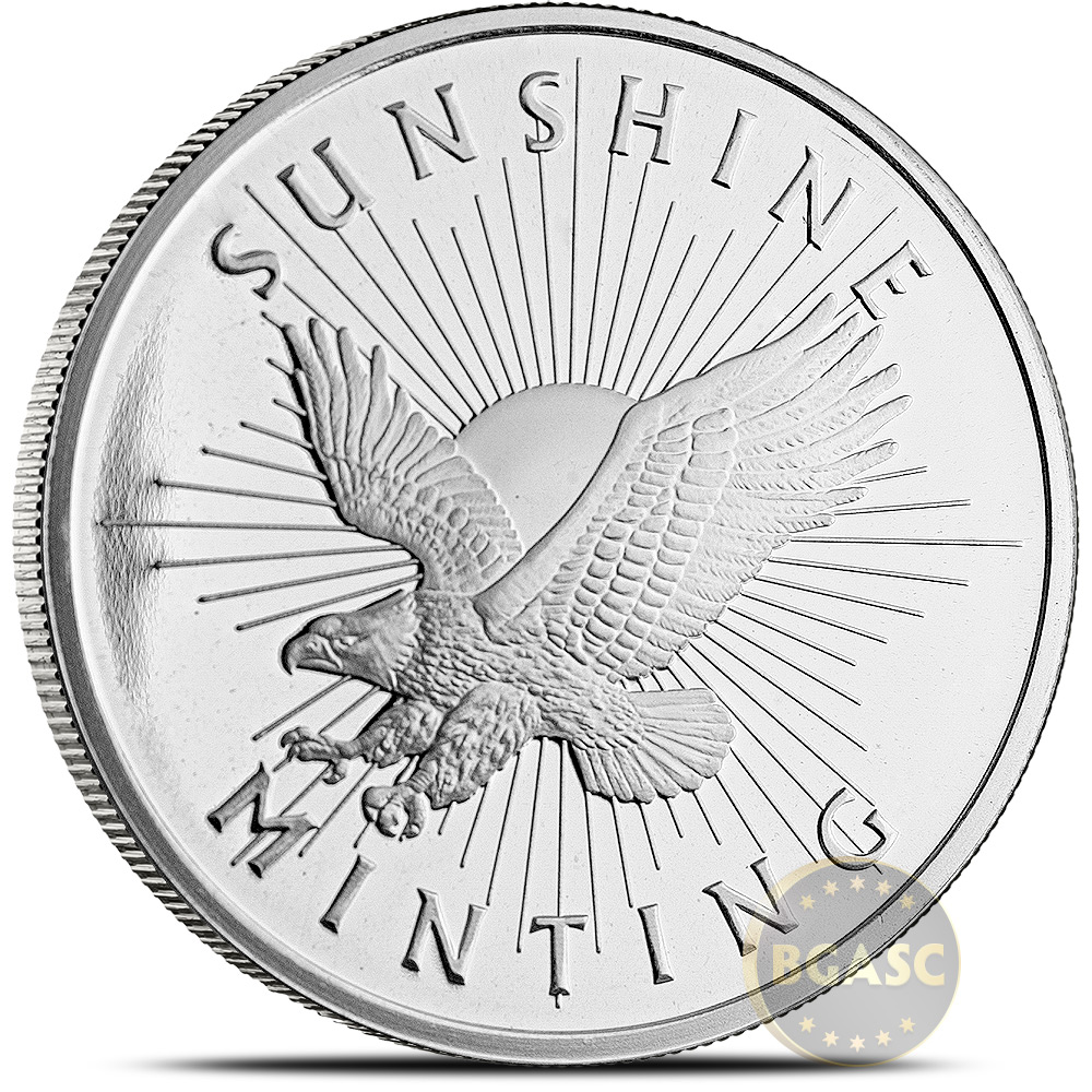 Buy 1 Oz Silver Rounds Sunshine Minting 999 Fine Silver