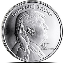 Buy 1 Oz Silver Donald Trump Rounds 999 Fine Silver