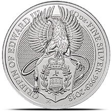 2018 10 oz Silver British Queen's Beasts Bullion Coin - The Griffin (in Capsule)